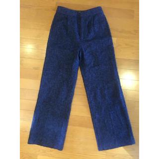 ルシェルブルー(LE CIEL BLEU)のルシェルブルー ウールパンツ ブルー 34 美品 ロングワイドパンツ(その他)
