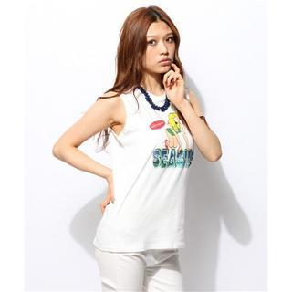 スライ(SLY)のSLY ガールプリントノースリーブカットソー(Tシャツ(半袖/袖なし))