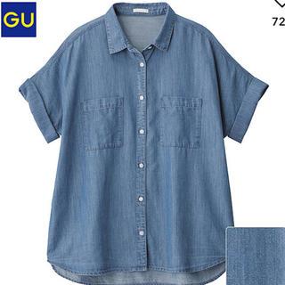 ジーユー(GU)のテンセルデニムロールアップシャツ(シャツ/ブラウス(半袖/袖なし))