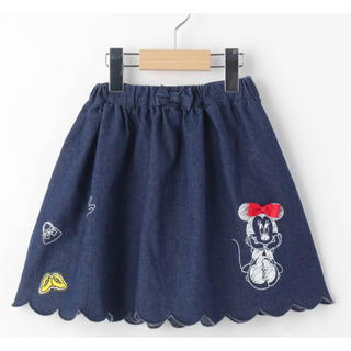 シューラルー(SHOO・LA・RUE)のミニーマウスデザイン デニムスカラップスカパン(スカート)