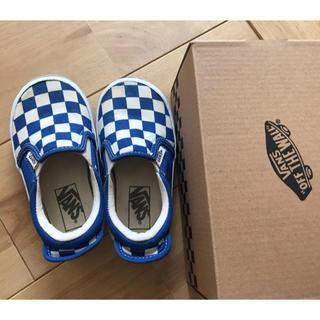 ヴァンズ(VANS)のvans スニーカー 16.0 BLUE/CHECK(スニーカー)