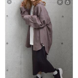ダブルクローゼット(w closet)のオーバーサイズチェックシャツ(シャツ/ブラウス(長袖/七分))
