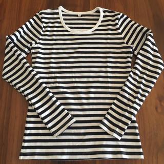 ムジルシリョウヒン(MUJI (無印良品))の無印良品 ボーダーロングTシャツ S(Tシャツ(長袖/七分))