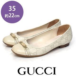 グッチ(Gucci)のグッチ 金具 GG フラットシューズ 35(約22cm)(ハイヒール/パンプス)