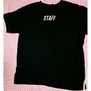 ウィゴー(WEGO)のWEGO ウィゴー WC ダブルシー Tシャツ 半袖 スタッフ 黒 ピンク(Tシャツ(半袖/袖なし))