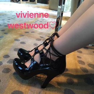 ヴィヴィアンウエストウッド(Vivienne Westwood)のVivienne Westwood レースアップパンプス(ハイヒール/パンプス)