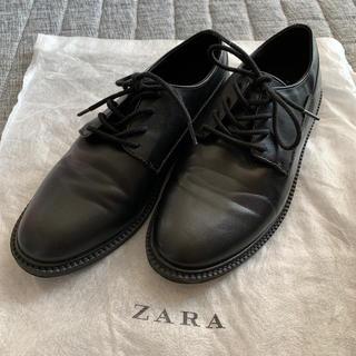 ザラキッズ(ZARA KIDS)のZara boys💛シューズ💛37ブラック💛一回着用美品(ローファー)