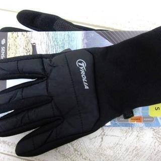 チロリア メンズ フリース グローブ 手袋 S 黒/〓ZFE(ネコ)(手袋)