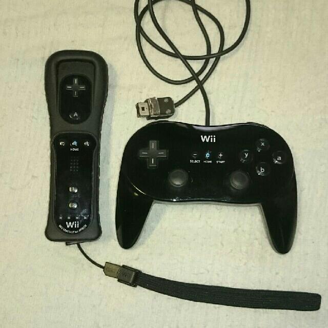 Wii(ウィー)のWiiリモコンプラス+クラシックコントローラーPRO セット!ジャンク! エンタメ/ホビーのゲームソフト/ゲーム機本体(その他)の商品写真