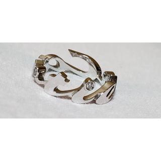 カルティエ(Cartier)の正規 カルティエ シグネチャー 3Pダイヤ ブランドロゴリング 18KWG12号(リング(指輪))