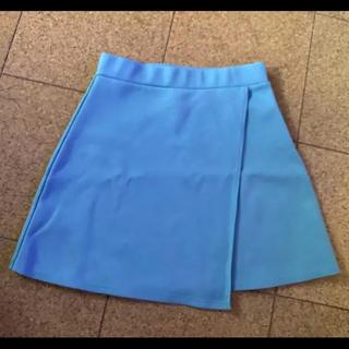 スライ(SLY)のSLY スライ ミニスカート ダスティブルー くすみ水色 清楚 L(ミニスカート)