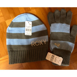 ロキシー(Roxy)の新品タグ付き ロキシー 帽子&手袋セット(手袋)