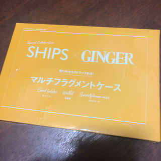 SHIPS - SHIPS×GINGER マルチフラグメントケース 雑誌付録