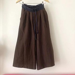 コーエン(coen)のコーエン 裾広がり 柔らかパンツ 茶色ブラウン(その他)