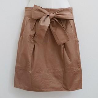 ランバンオンブルー(LANVIN en Bleu)のランバンオンブルー リボンスカート タイトスカート 送料無料(ひざ丈スカート)