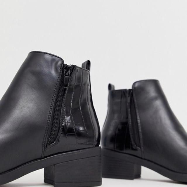 JOHN LAWRENCE SULLIVAN(ジョンローレンスサリバン)のパイソン レザー ヒールブーツ サンローラン サリバン sullen メンズの靴/シューズ(ブーツ)の商品写真