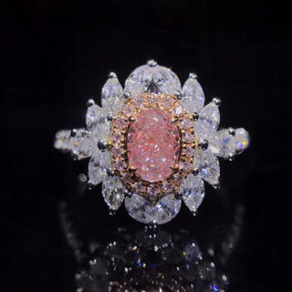 0.52ct Giaピンクダイヤモンド指輪(リング(指輪))