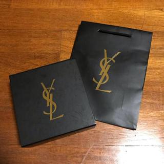 イヴサンローランボーテ(Yves Saint Laurent Beaute)のYSL 空箱紙袋 紐付き(ショップ袋)