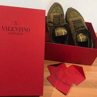 ヴァレンティノガラヴァーニ(valentino garavani)のヴァレンティノ ロックスタッズ スニーカー 緑×青(93015110)(スニーカー)