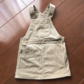 MUJI (無印良品) - 無印良品 ゴーディロイ ジャンパースカート 90