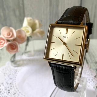 エテ(ete)の【電池交換済み】ete エテ 腕時計 ボーイフレンド スクエア(腕時計)