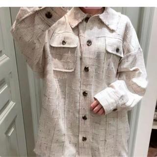 スナイデル(snidel)のSnidel ツイードシャツジャケット(テーラードジャケット)