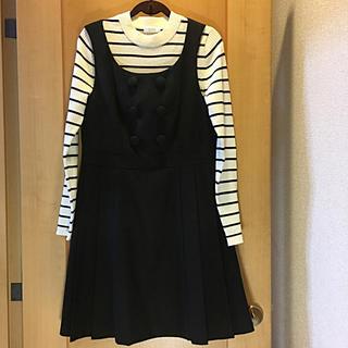 アニエスベー(agnes b.)のアニエス ベー    T o ☆ b  黒のジャンパースカート  34(s)(ひざ丈ワンピース)