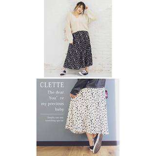 クレット(clette)の!大きいサイズ!ダルメシアンスカート!4L!(ロングスカート)