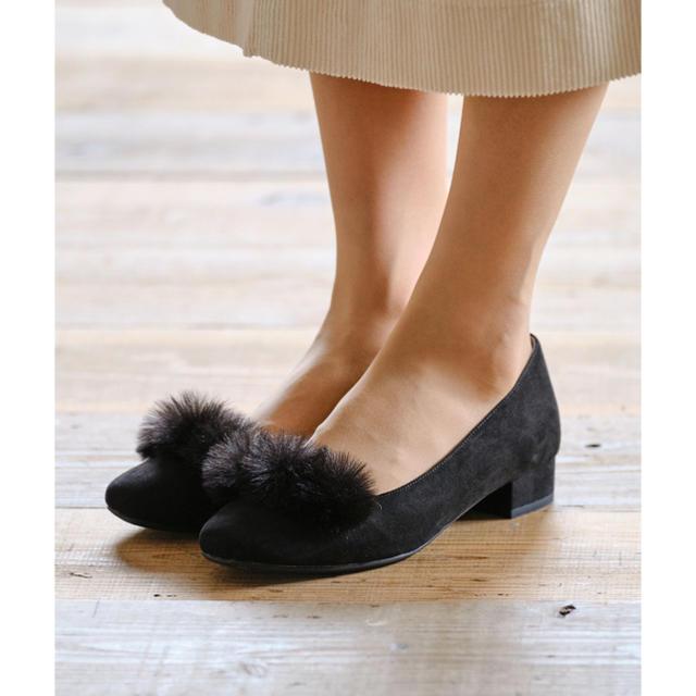 ORiental TRaffic(オリエンタルトラフィック)のWA ORiental TRaffic ファースクエアトゥパンプス レディースの靴/シューズ(ハイヒール/パンプス)の商品写真