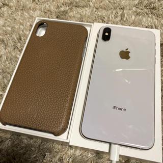 アイフォーン(iPhone)のiPhone Xs Max Silver 512 GB sim解除 オマケ付き(スマートフォン本体)