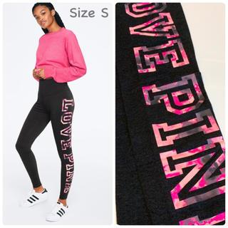 Victoria's Secret - 【新品】VS PINK ハイウエスト サイドロゴ コットン レギンス ピンク S