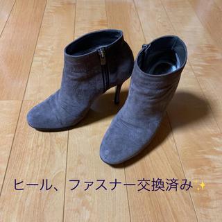 ギンザカネマツ(GINZA Kanematsu)の銀座かねまつ ブーティー ショートブーツ 23㎝  グレー系(ブーティ)