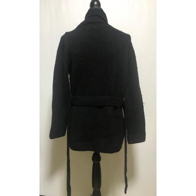 SHIPS(シップス)の☆SHIPS☆ ニットカーディガン ブラック ガウン ウール レディースのジャケット/アウター(ガウンコート)の商品写真