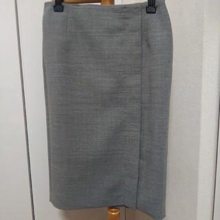 アドーア(ADORE)の美品 ADORE アドーア ラップ風スカート サイズ36 グレー(ひざ丈スカート)