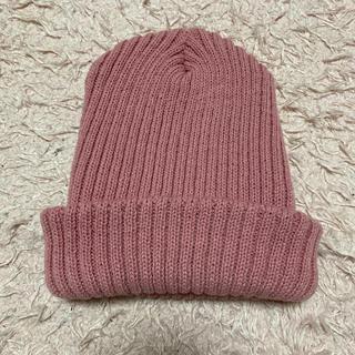 ウィゴー(WEGO)のWEGO ニット帽 ピンク(ニット帽/ビーニー)
