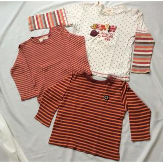 エーアーベー(eaB)の90 e.a.B 3枚セット長袖Tシャツ☆エーアーベー ベベ(Tシャツ/カットソー)