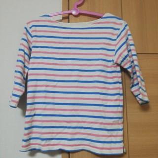 ビームス(BEAMS)の値下げ⭐ビームスミニ ボーダー七分丈シャツ(Tシャツ/カットソー)