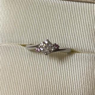 銀座リム ピンクダイヤ付ダイヤモンドリング 0.328ct(リング(指輪))