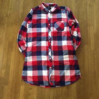 ズーティー(Zootie)のイーザッカマニア 購入 ズーティー ネルシャツ ワンピ チェック ロングシャツ(シャツ/ブラウス(長袖/七分))