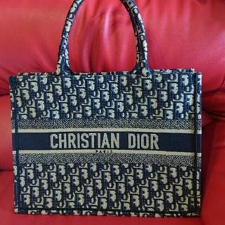 クリスチャンディオール(Christian Dior)のChristian Dior 本物 ブックトート ミニ スモール トロッター(トートバッグ)