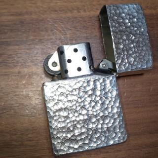 ジッポー(ZIPPO)のジッポ 純銀 スターリングシルバー 鎚目 アメリカ製 2004年(タバコグッズ)