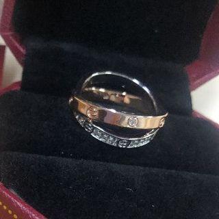 カルティエ(Cartier)のカルティエ ミニラブリング ダイヤ(リング(指輪))