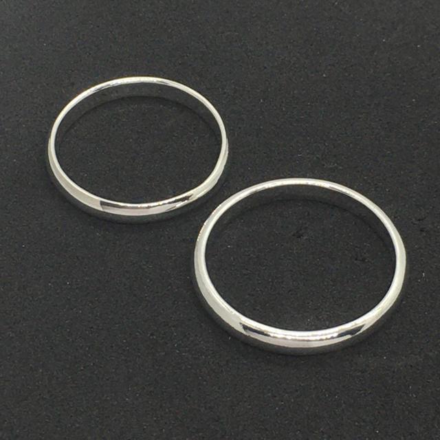 シルバー925製 ペアリング 2個セット 定番の無地リング 3mm メンズのアクセサリー(リング(指輪))の商品写真