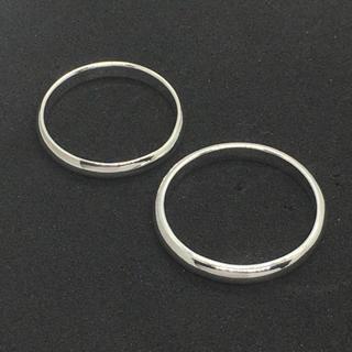 シルバー925製 ペアリング 2個セット 定番の無地リング 3mm(リング(指輪))