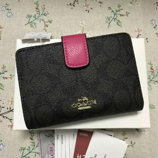 コーチ(COACH)の新品COACH コーチ 二つ折り財布 正規品 アウトレットF53562(折り財布)