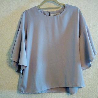 フィフス(fifth)のfifth フリルシャツ グレー(シャツ/ブラウス(半袖/袖なし))