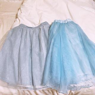 フェイバリット(Favorite)の膝丈スカート2点セット(ひざ丈スカート)