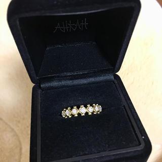 アーカー(AHKAH)のAHKAH アーカー ダイヤモンドリング 0.25ct(リング(指輪))