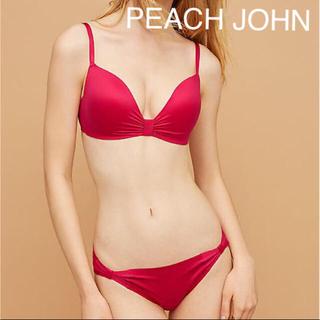 ピーチジョン(PEACH JOHN)のPEACH JOHN 胸きゅんブラB65(1枚)パンティS(2枚)ばら色セット(ブラ&ショーツセット)