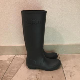 BENETTON - 美品!ベネトン ダークグレー 長靴 レインシューズ サイズ37 24